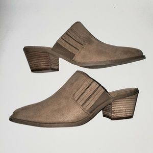 American Eagle Outfitters Taupe Mules